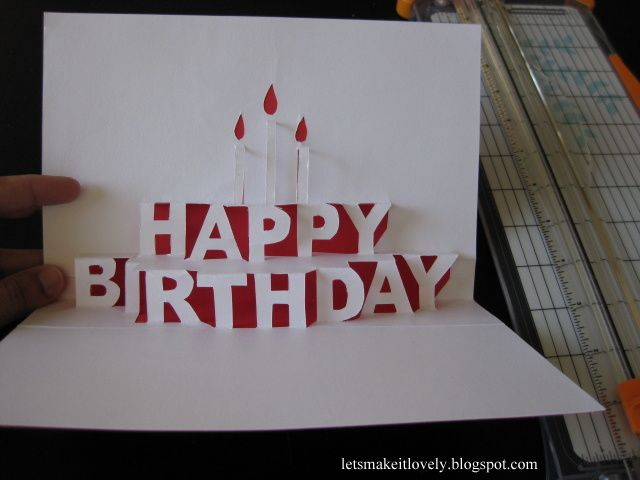 DIY Happy Birthday Pop Up Card Artesanato Pinterest – Happy Birthday Pop Up Cards