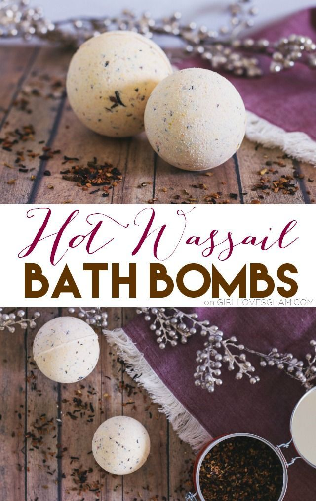 Hot Wassail Bath Bombs, a deliciously perfect way to warm up this winter. Easy bath bomb recipe and tutorial that would be perfect for gift giving!