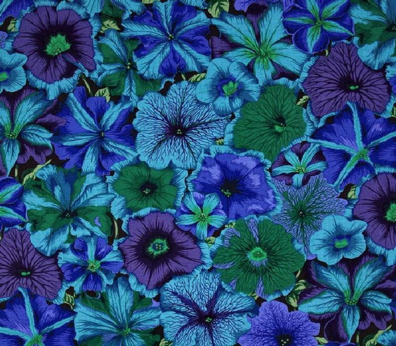 Purple Blue Green Flower Fabric Cotton Fabric Chrysanthemum Fabric Sewing Supply Sewing Fabric Quilting Fabric Crafting Fabric