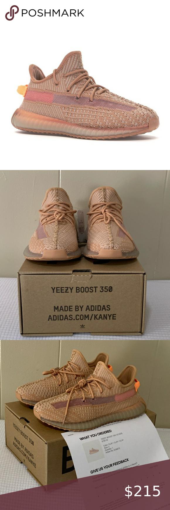 Yeezy Boost 350 V2 Clay Kids Size 3