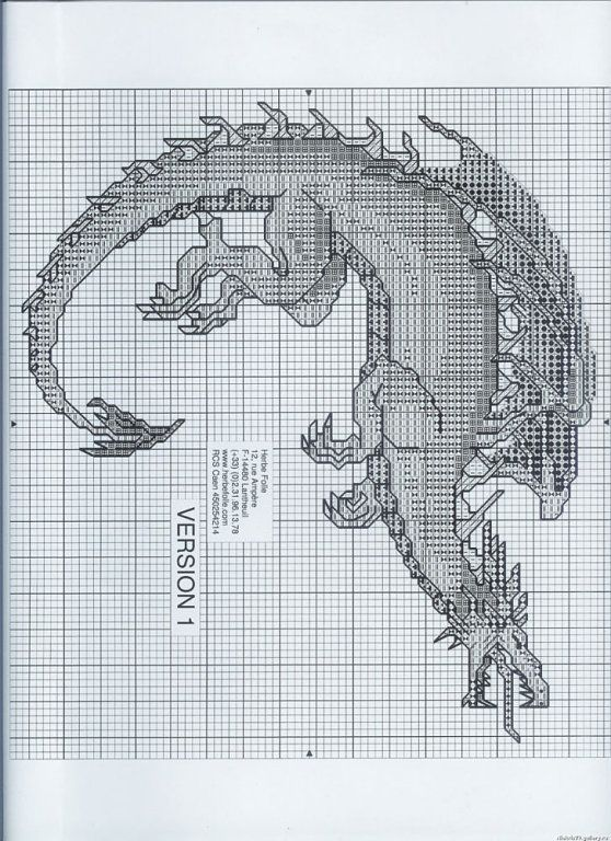 Solo Patrones Punto Cruz | Dragons, Cross stitch and Stitch