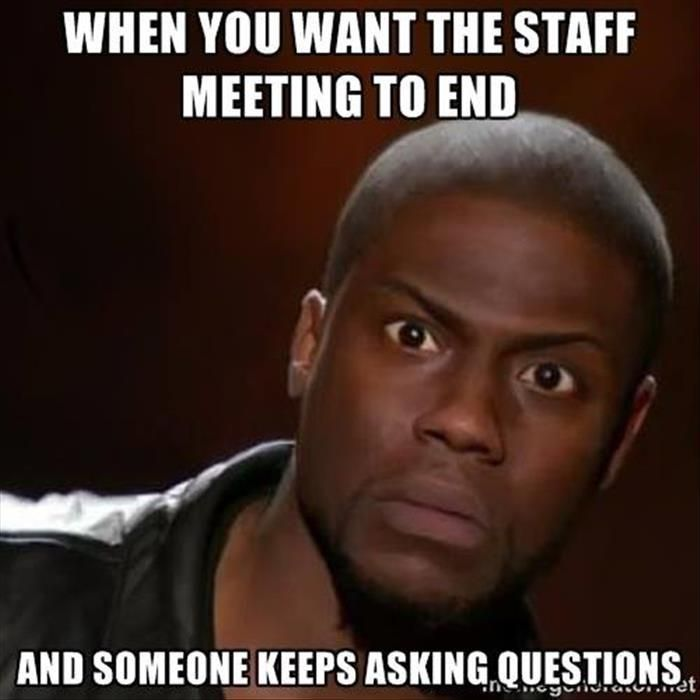 Image result for internal meetings meme