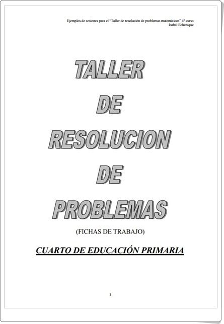 Taller de resolución de problemas para 4º de Primaria (Isabel ...