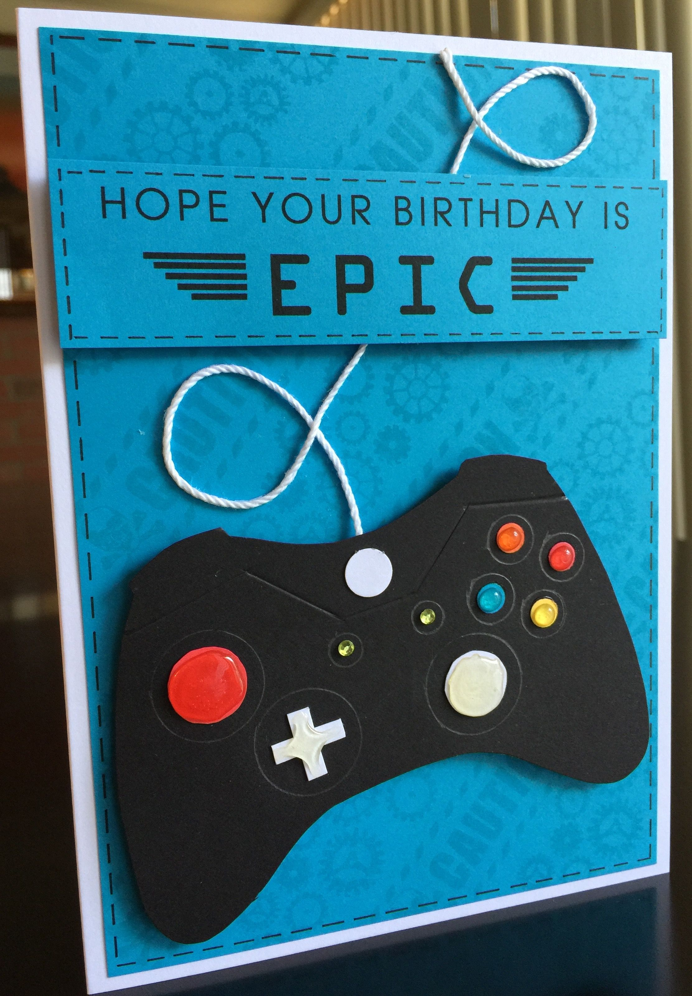 Birthday Card Making Ideas Video Part - 22: Video Game Control Birthday Card For Nephew Genki. May 2016.