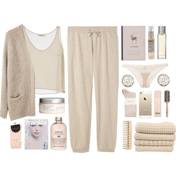 Cozy and cute by weasley-7 on Polyvore featuring косметика, Lacoste, Le Labo, H&M, Chloé, Philip Kingsley, 3.1 Phillip Lim, Valentino, Yasmine eslami and Falke
