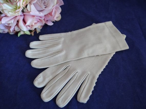 Vintage Mid Century Creamy White Gloves with by SecondWindShop, $15.00