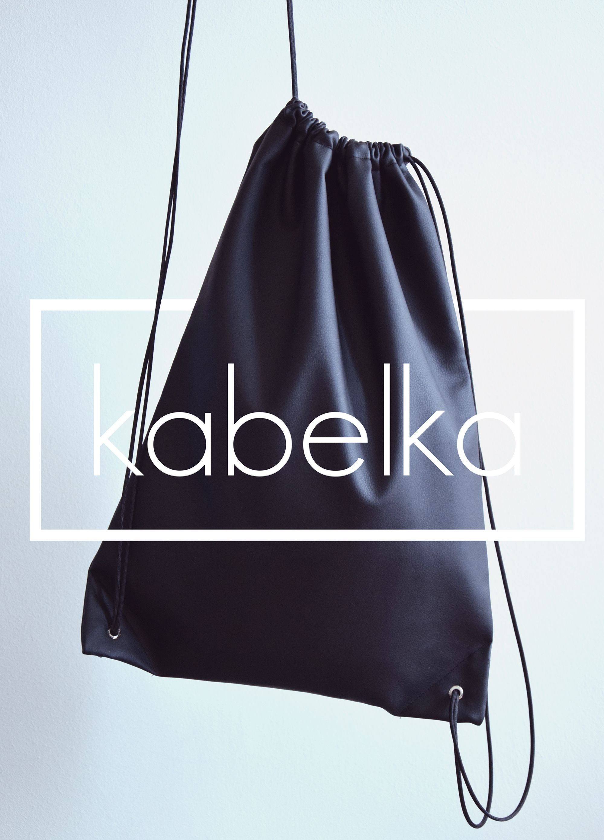 Black Drawstring Bag from the hungarian kabelka brand. minimalist ...