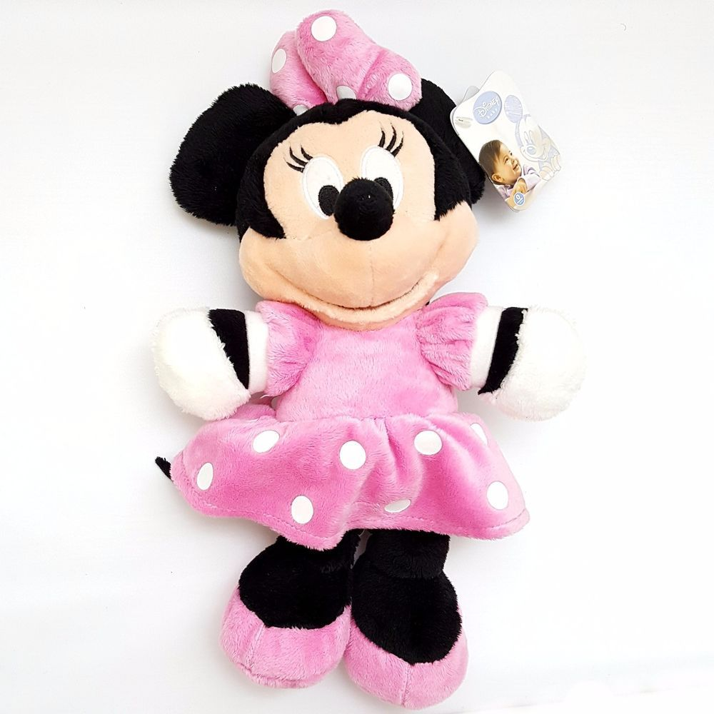 Predownload: Disney Baby Plush Stuffed Minnie Mouse 12 Inch Cuddly Xmas Gift Stocking Stuffer Disney Giftidea Charit Pink Minnie Mouse Dress Animal Plush Toys Baby Plush [ 1000 x 1000 Pixel ]