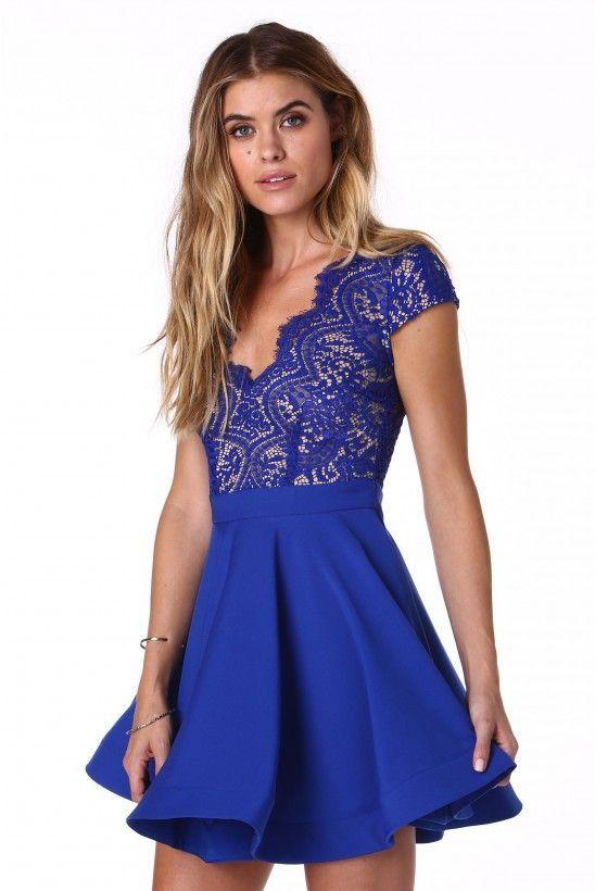 Short Blue Cocktail Dress