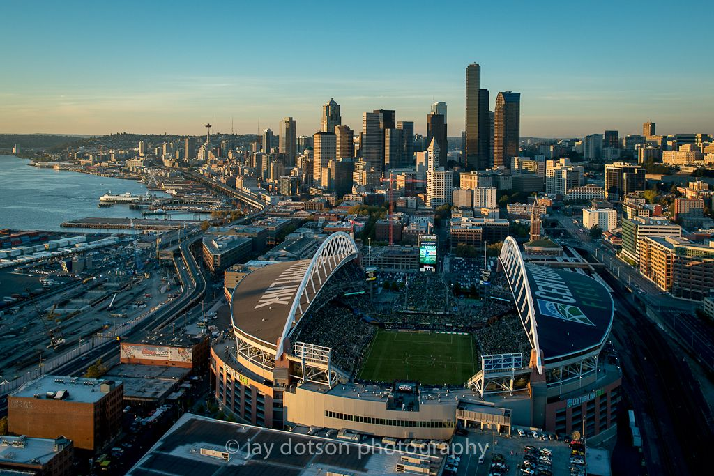 Pin on Seattle Sounders, 66,452, Aerial Photography by Jay