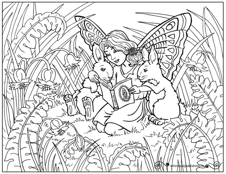 Fairybunny Colouringpage Jpg 768 593 Free Online Coloring Fairy Coloring Pages Free Coloring Pages