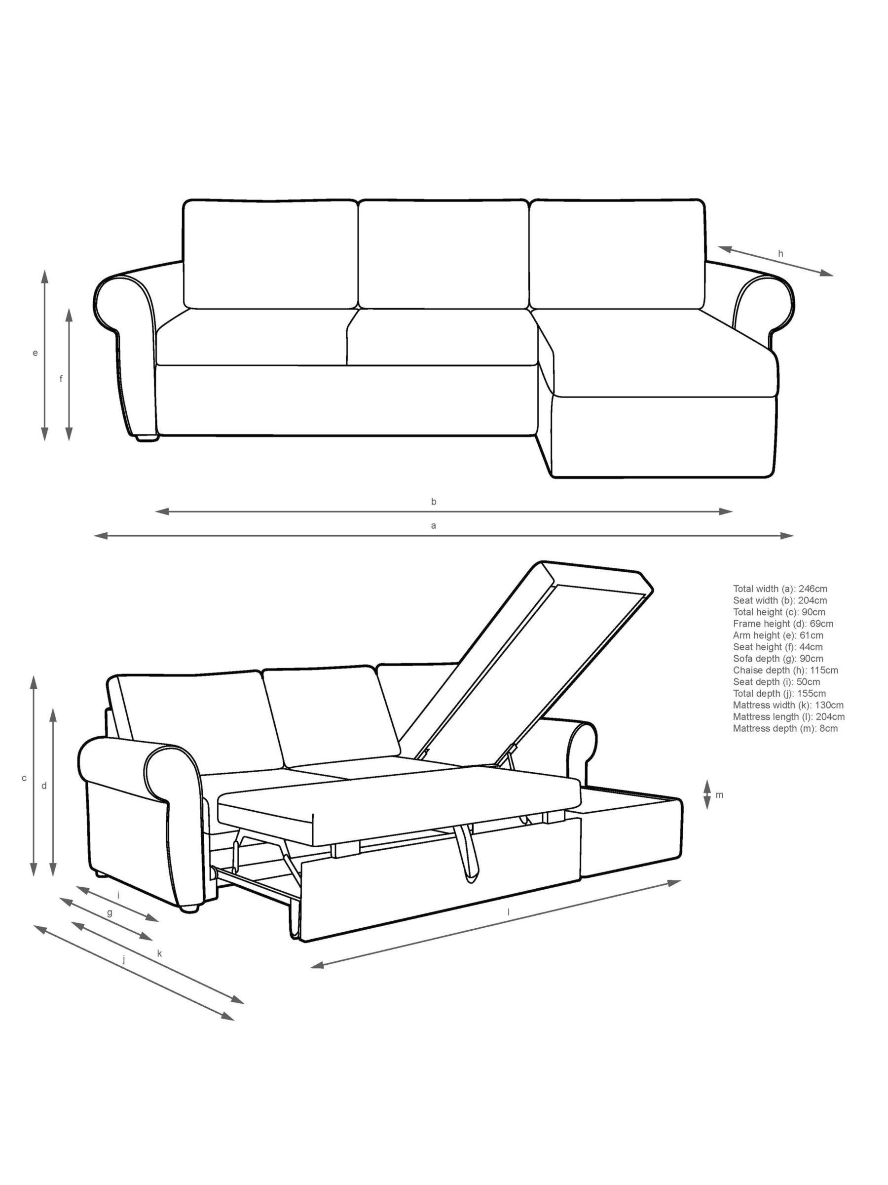 John Lewis Partners Sansa Scroll Arm Sofa Bed Sofa Bed Sansa
