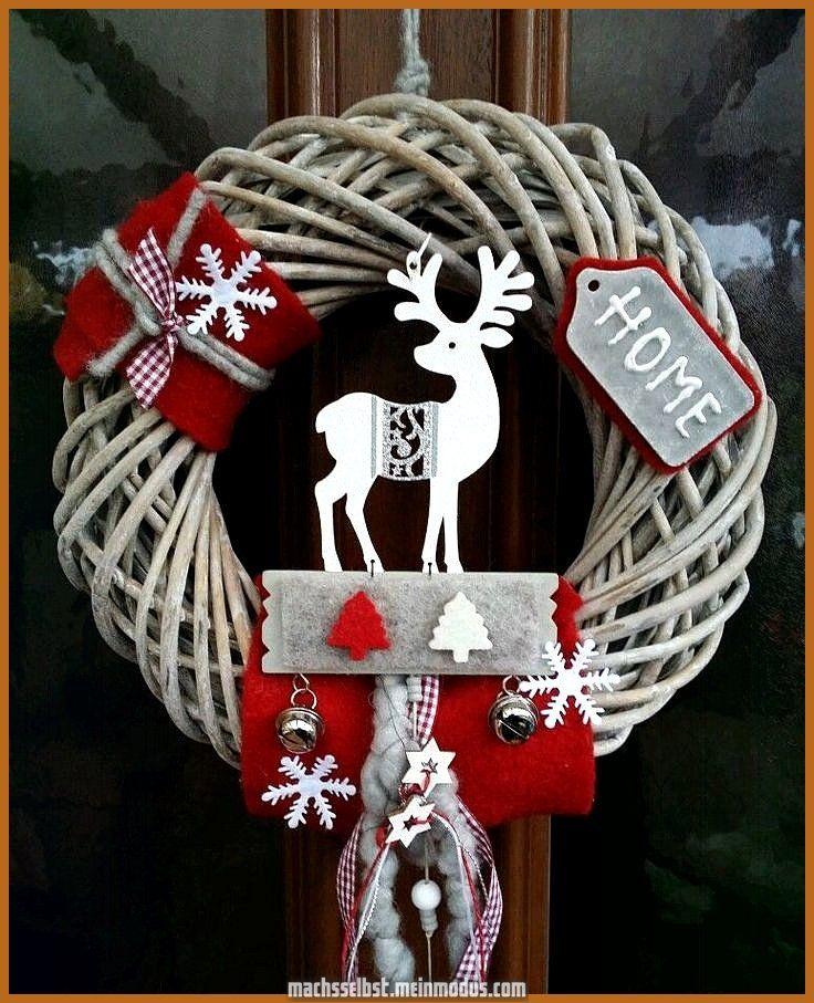 Türgirlande Türdekoration Weihnachten Advent Rentier rustikal Landhaus 30cm