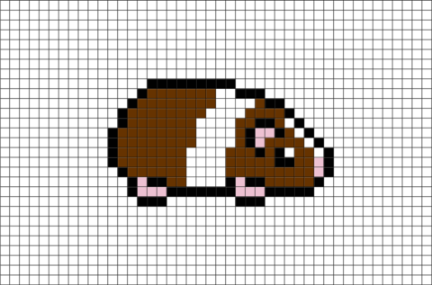 Guinea Pig Pixel Art Brik Pixel Art Designs Pixel Art