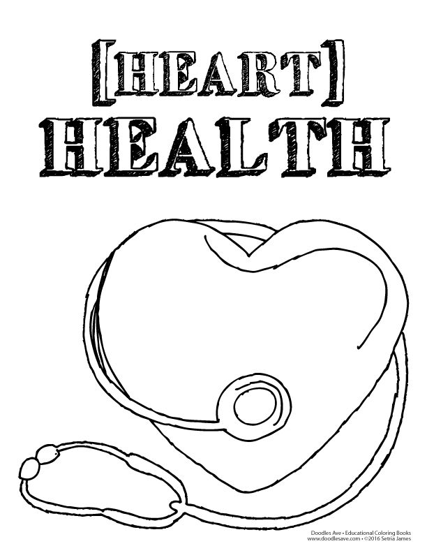 Heart Health Month Heart Coloring Pages Coloring Pages For Kids Coloring Pages