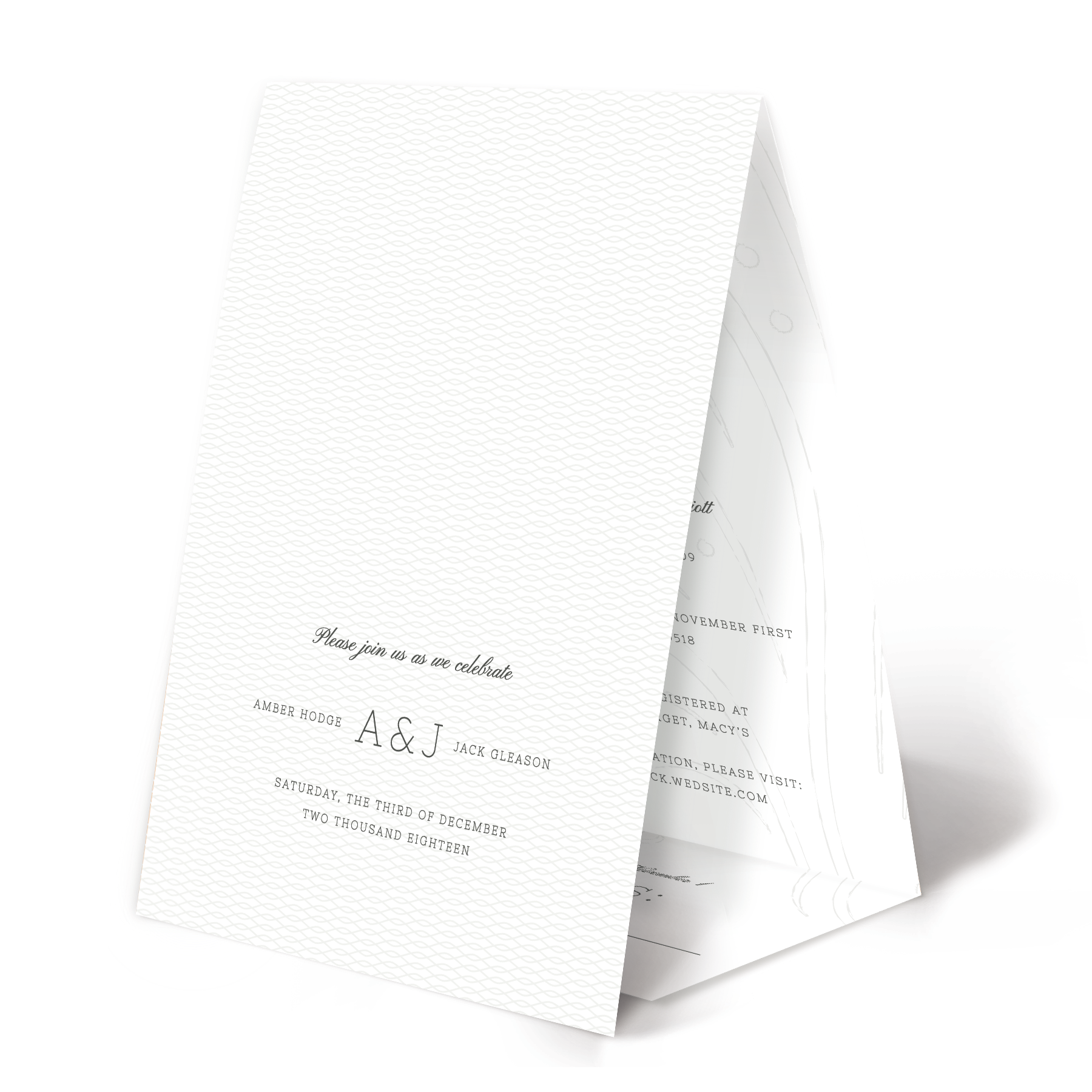 Whimsical Winter White All-In-One Wedding Invitation   www ...