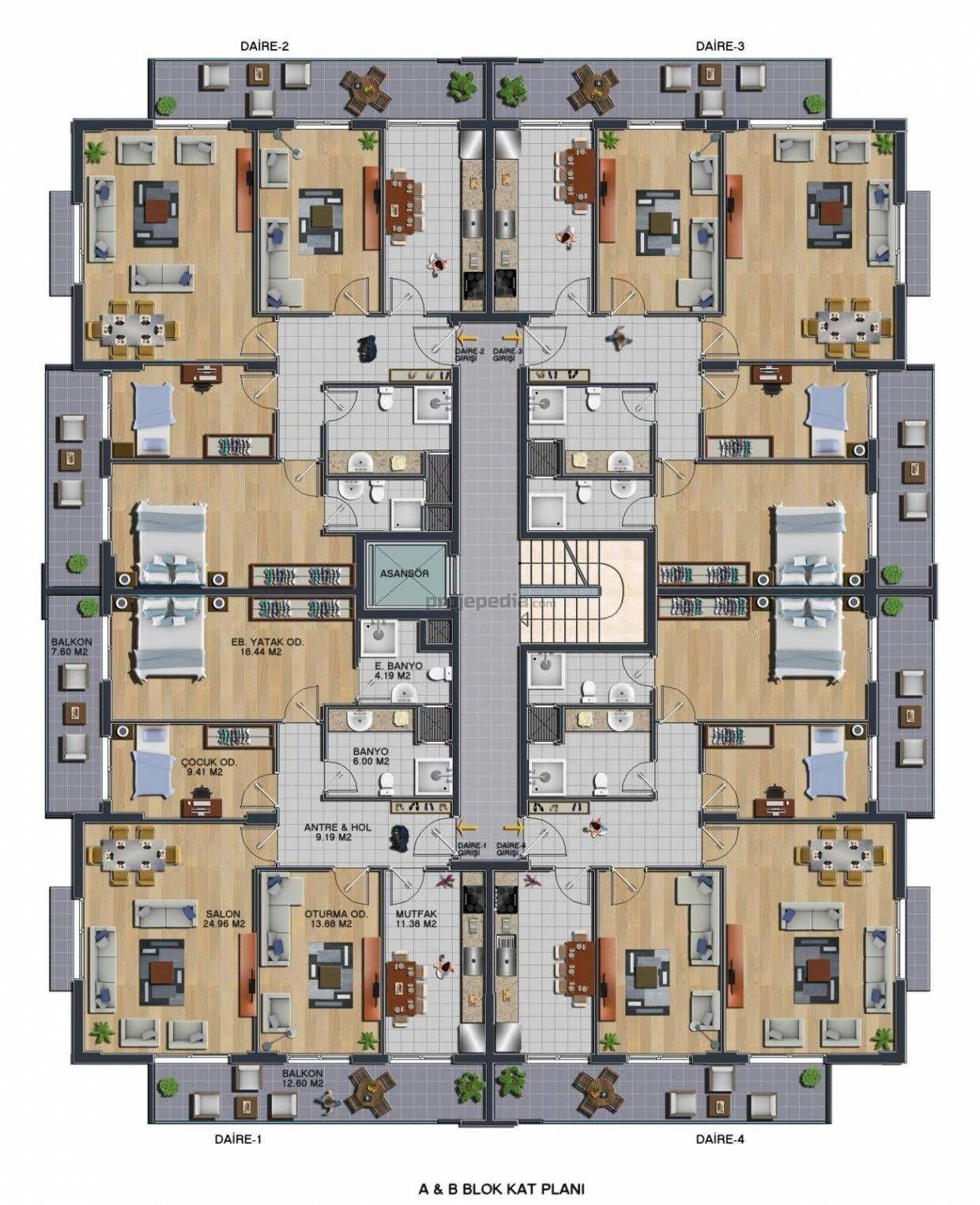 Architectural Floor Plans By Ikpe Okafor On Great Apt Layout Model House Plan Residential Building Plan