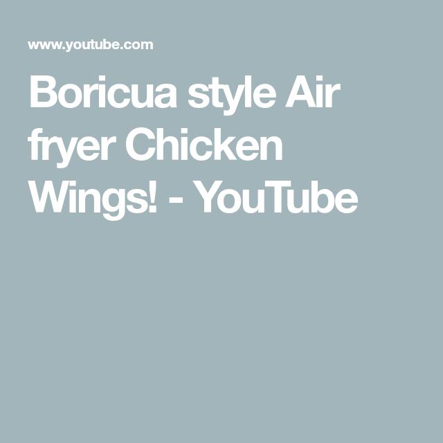 Boricua style Air fryer Chicken Wings!