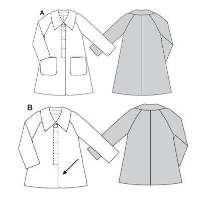 Burda naaipatronen mantel