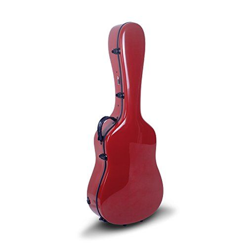 Crossrock Crf1000drd Fiberglass Acoustic Guitar Case Hardshell Backpack Style For 4041 Dreadnought In Red T Acoustic Guitar Case Guitar Case Acoustic Guitar