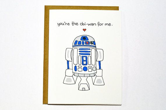 Star Wars Love Quotes Awesome Funny Star Wars R2D2 Cardvalentine Card  You're The Obiwan For