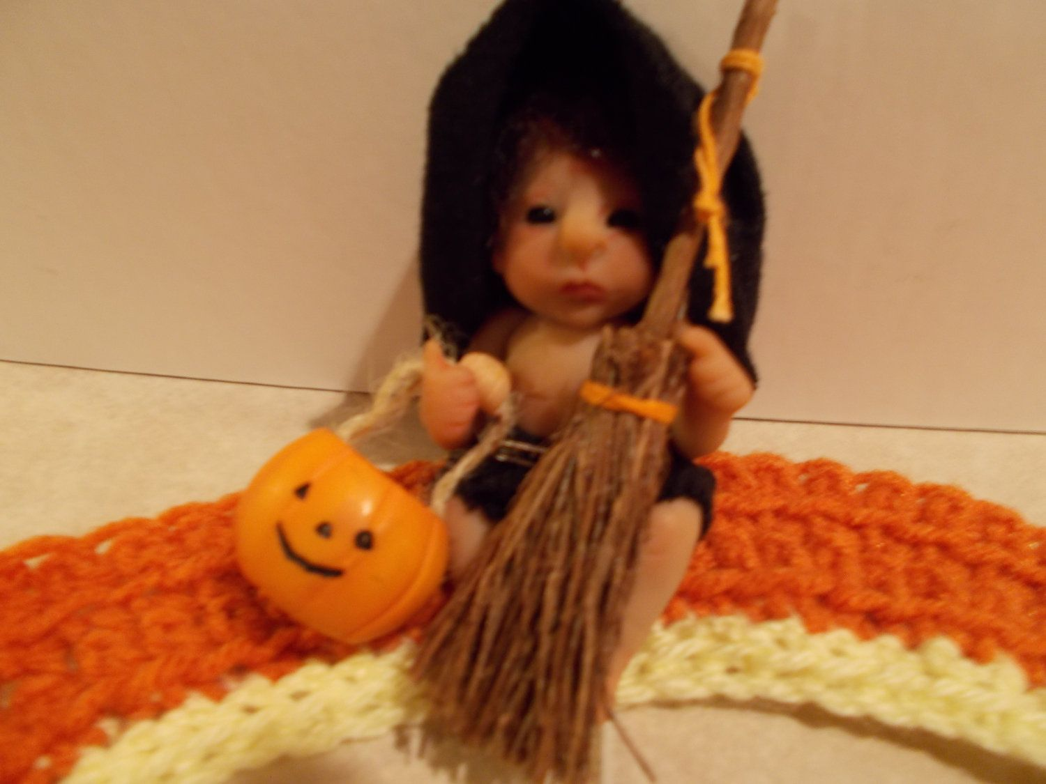 Ooak Sculpted Witch Baby Doll. $32.00, via Etsy.
