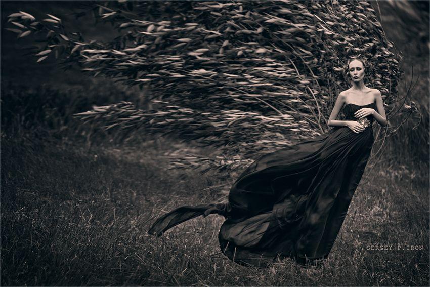 Black Dress Wind Fashion And White