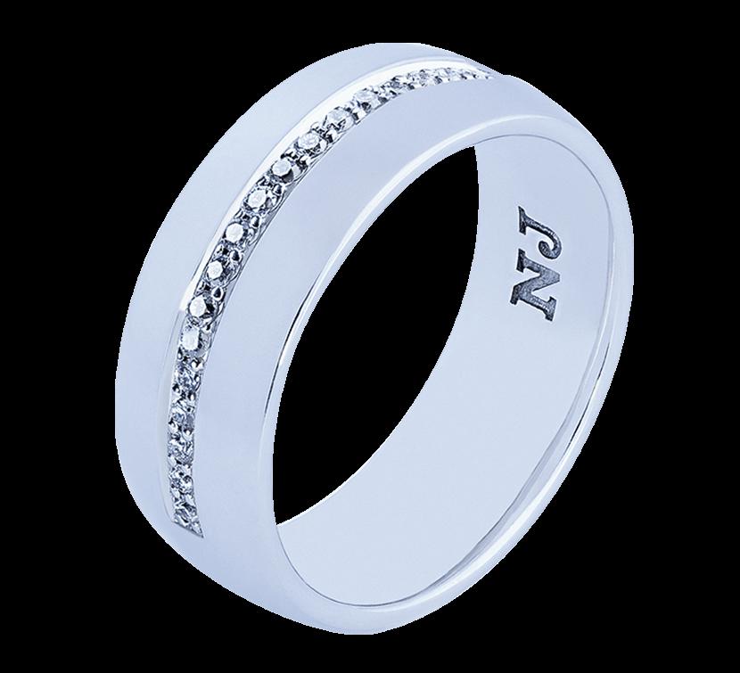 86938790cdc2 NICO JULIANY ОБРУЧАЛЬНЫЕ КОЛЬЦА Эксклюзивное обручальное кольцо из белого  золота. Широкая европейская форма украшения смотрится