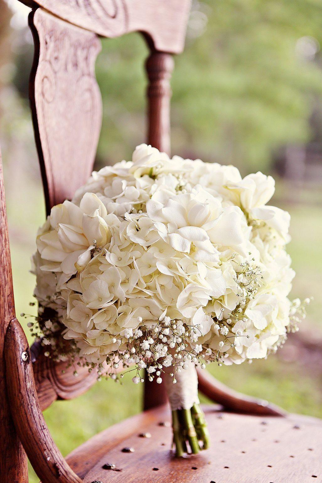 Букеты из гортензии на свадьбу