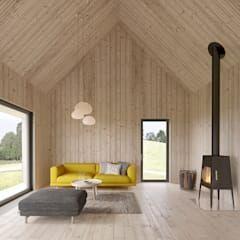 Od int2architecture skandynawski drewno o efekcie drewna | homify