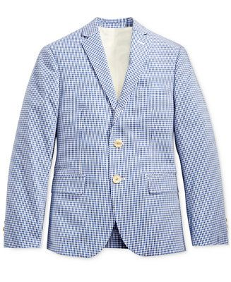 93d41036 Lauren Ralph Lauren Grid Cotton Suit Jacket, Big Boys (8-20) - Boys ...