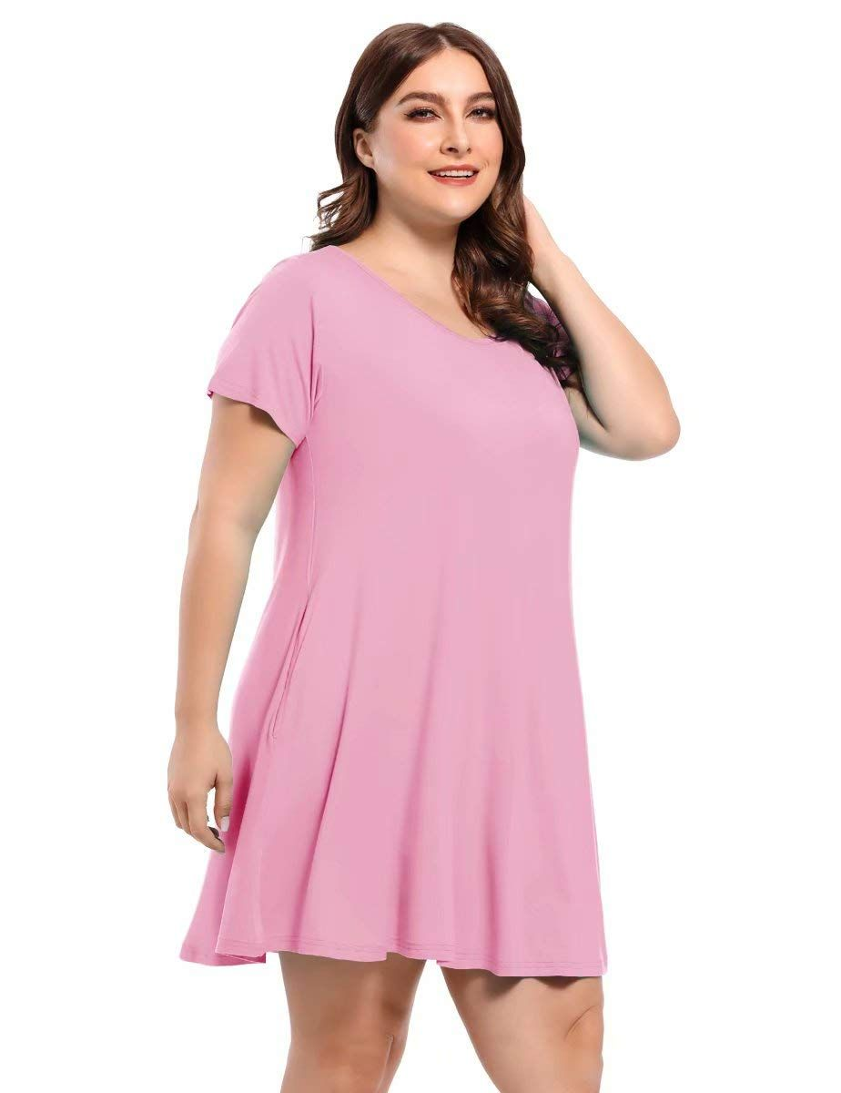 Belaroi Women S Short Sleeve Swing Dresses Summer Casual Pockets T Shirt Dress Sponsored Casual Dresses For Women Sleeved Swing Dress Dresses [ 1200 x 924 Pixel ]