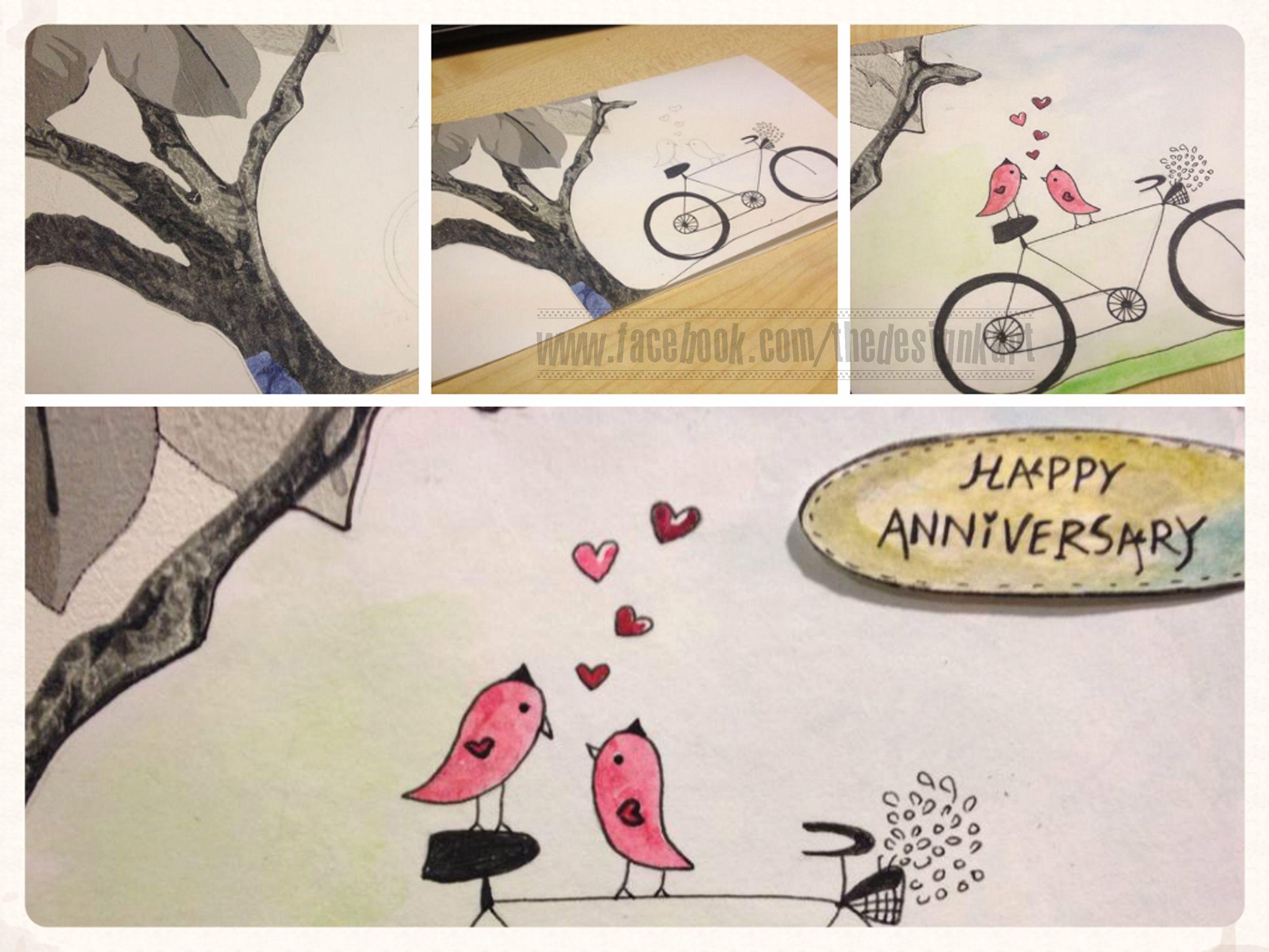handmade card for anniversary  cards handmade handmade