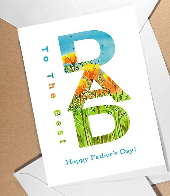 fathers day card for a great father beautifully created