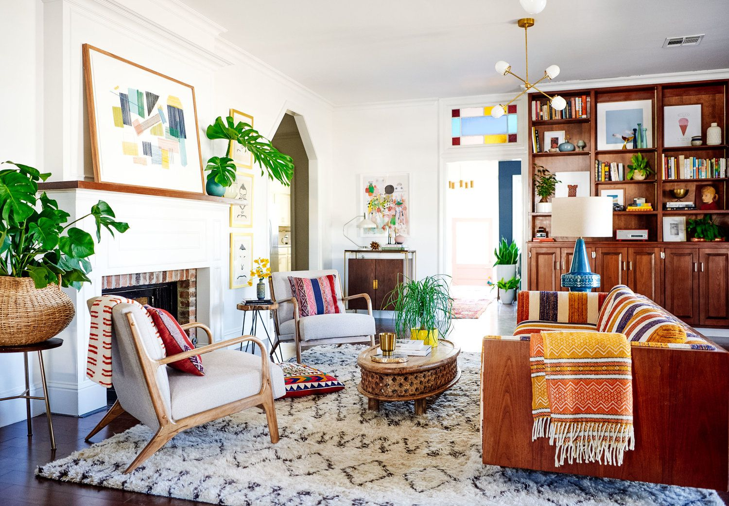 Our Crazy Colorful New Orleans Home Tour | Living spaces, Eclectic ...