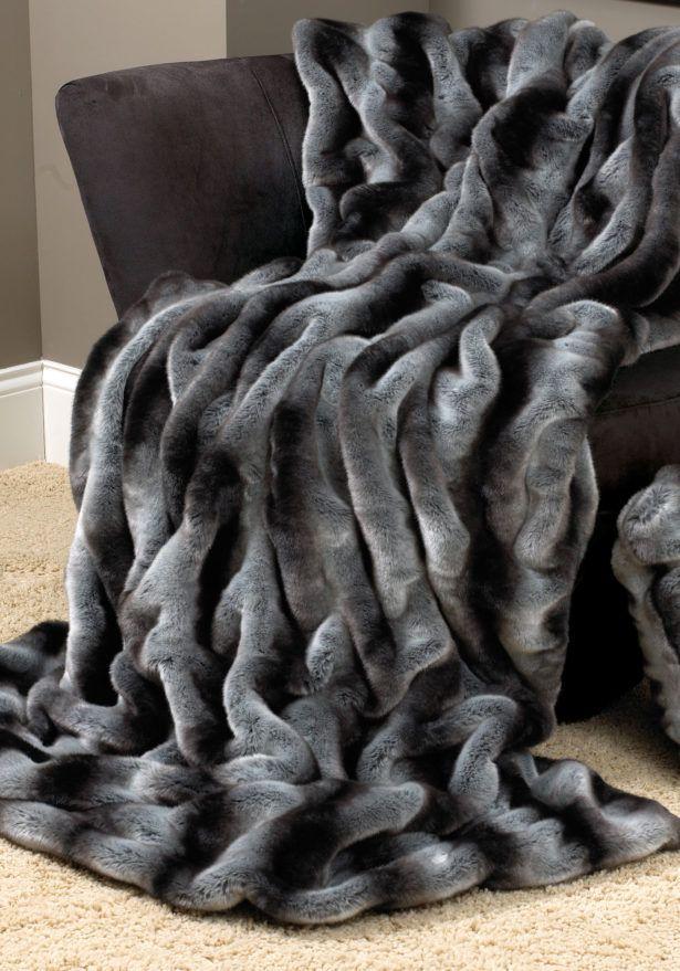 Interior Faux Fur Electric Blanket Black Baby Throw Dog Restoration Hardware