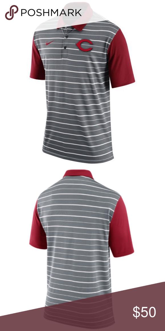 fe98d51f7 Cincinnati Reds - Nike MLB Mens Dri-FIT Polo Shirt The Nike MLB Cincinnati  Reds