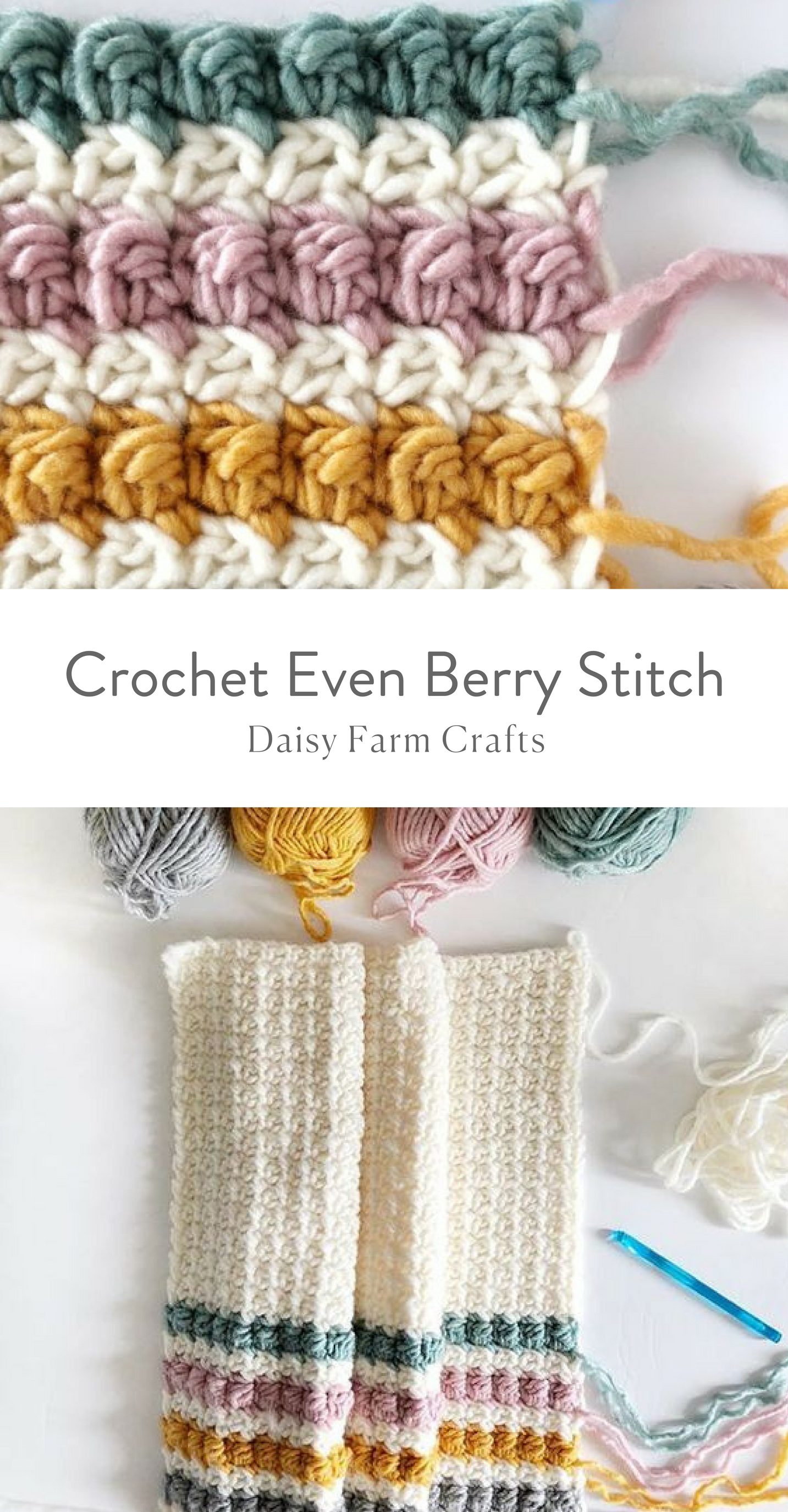 How to Crochet the Even Berry Stitch | Crochet Stitches | Pinterest ...
