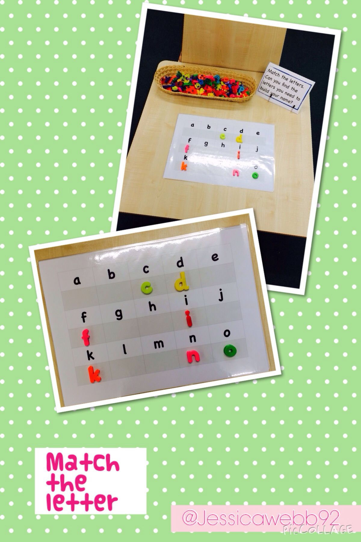 Matching Letters On The Phonics Table