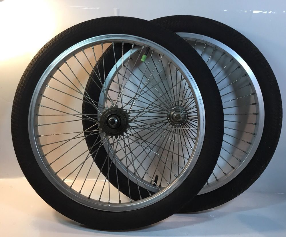 48 Spoke Silver Wheels Bmx Freestyle Rims Dyno Gt Haro Bike