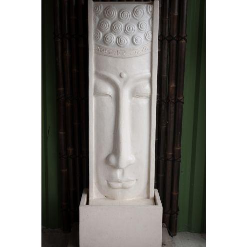 Grande fontaine mur d\u0027eau visage de Bouddha 180 cm blanc Pinterest - fontaine a eau d interieur