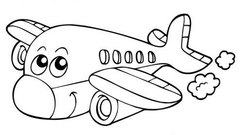 Flugzeug Malvorlage 05 Plotter Ideen
