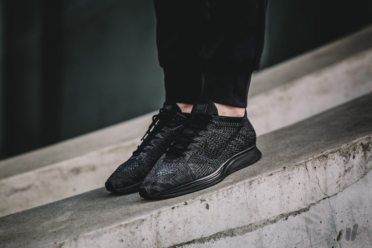 ffacdad64062 ... order available tomorrow nike flyknit racer triple black midnight  credit overkill shop 870da 2bb24