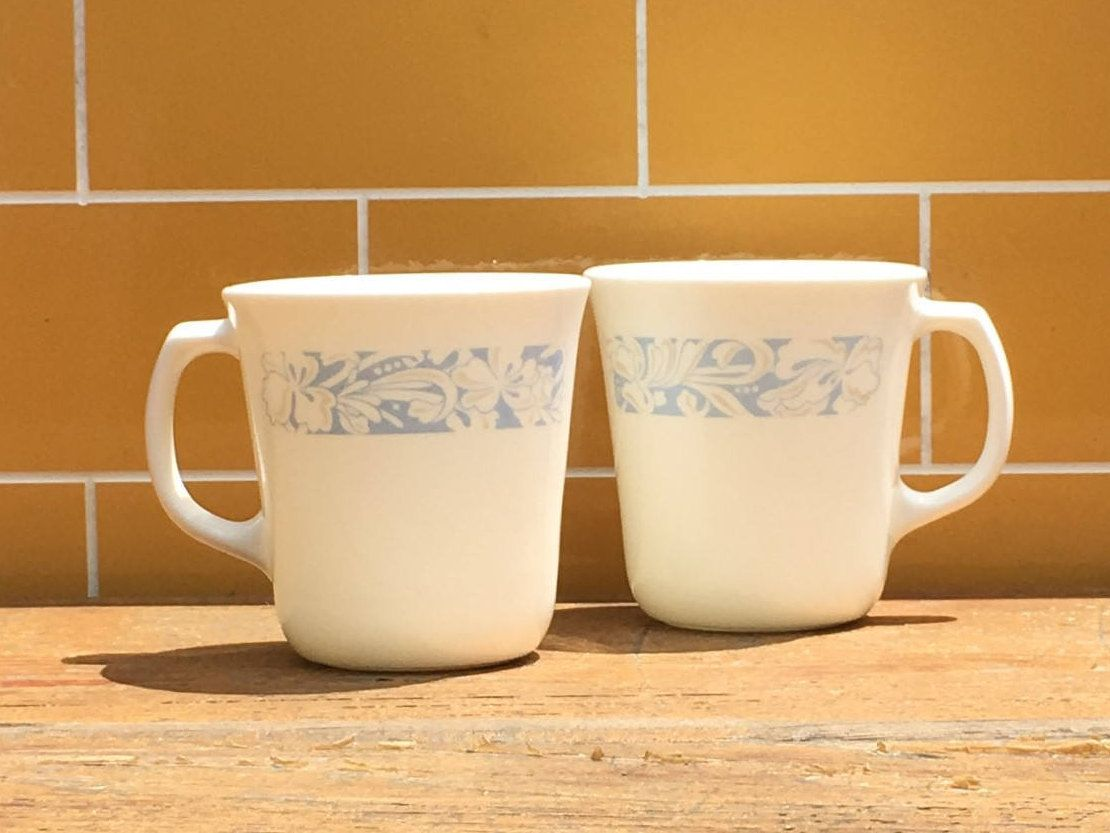 8pc Set 10oz Corning Mugs Sea And Sand Vintage Corning Coffee Etsy Mugs Corning Tea Cups