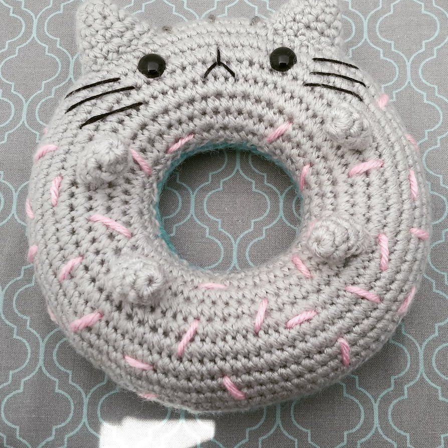 Pusheen doughnut by iobhan35   Amigurumi   Pinterest