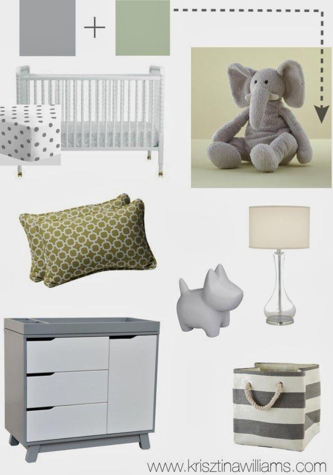 Krisztina Williams Nursery Decor A Modern Gray And Sage