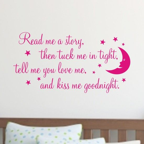 Kids Wall Art read me a story kids bedroom wall art sticker - h563k | baby