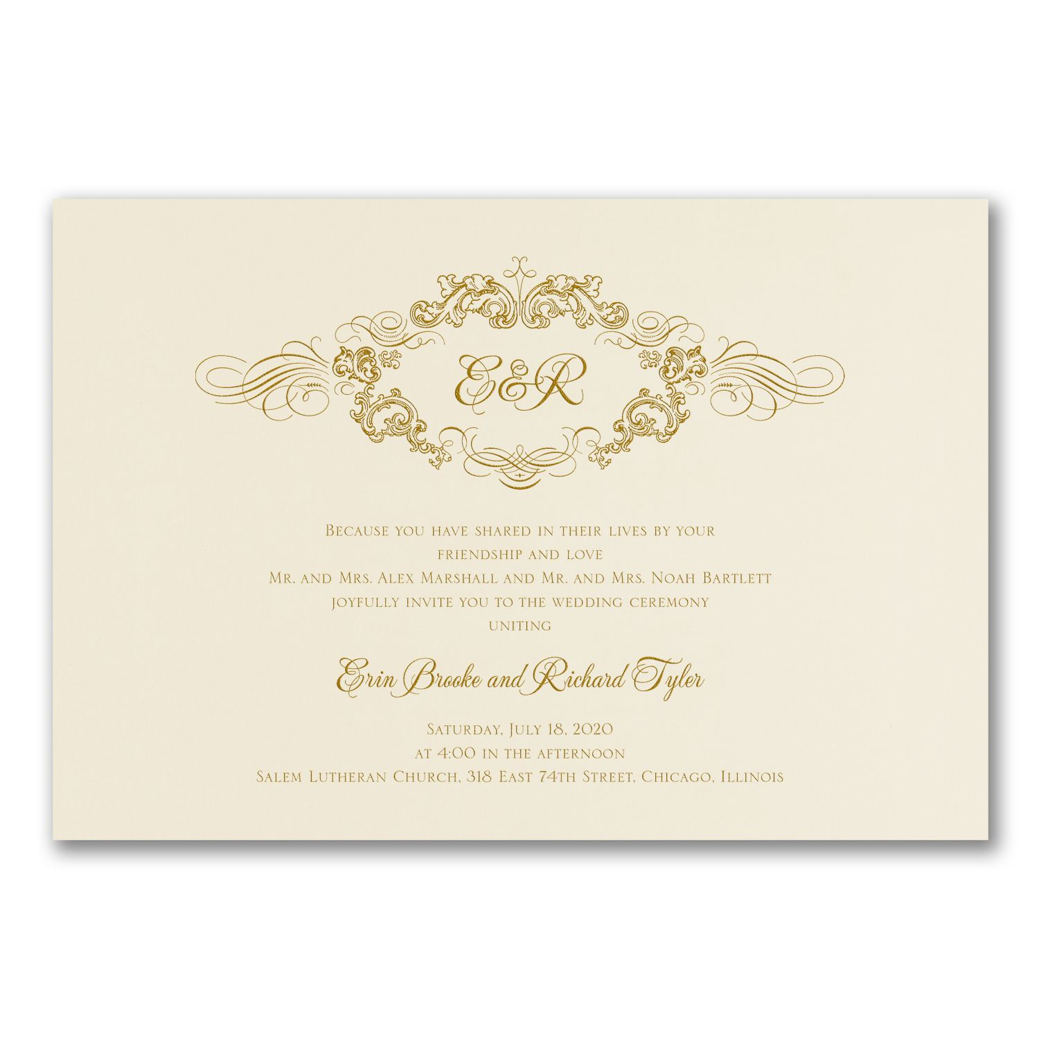 Twilight Enchantment White Wedding Invitations with Initials http ...