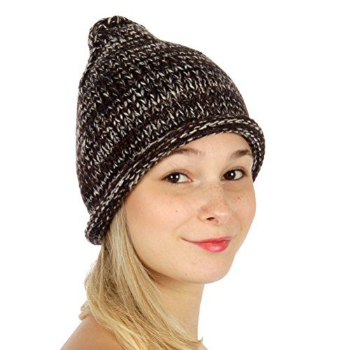 546b9b97565 Knitting Factory Winter Hand Made Hat Selection Yarn Ab Pointy Corn Beanie ( Brown) Knitting Factory http   www.amazon.com dp B0176FP3CQ ref  ...