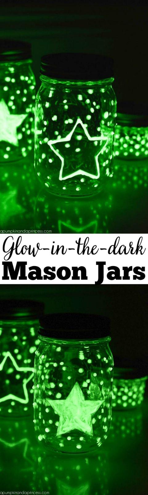 how to make diy glow in the dark jars